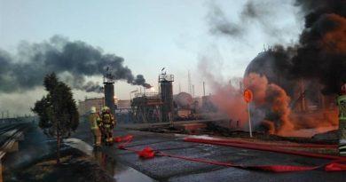 مهار حریق پالایشگاه تهران توسط آتش نشانان غیور